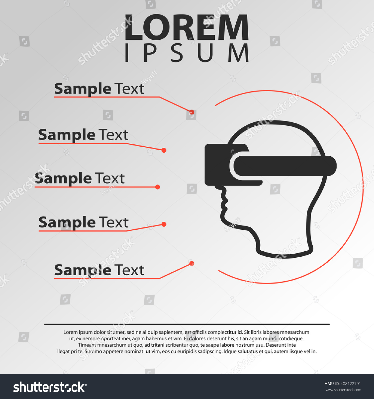 dd5e67e6ca2 man wearing virtual reality glasses icon. 3D oculus infographics template