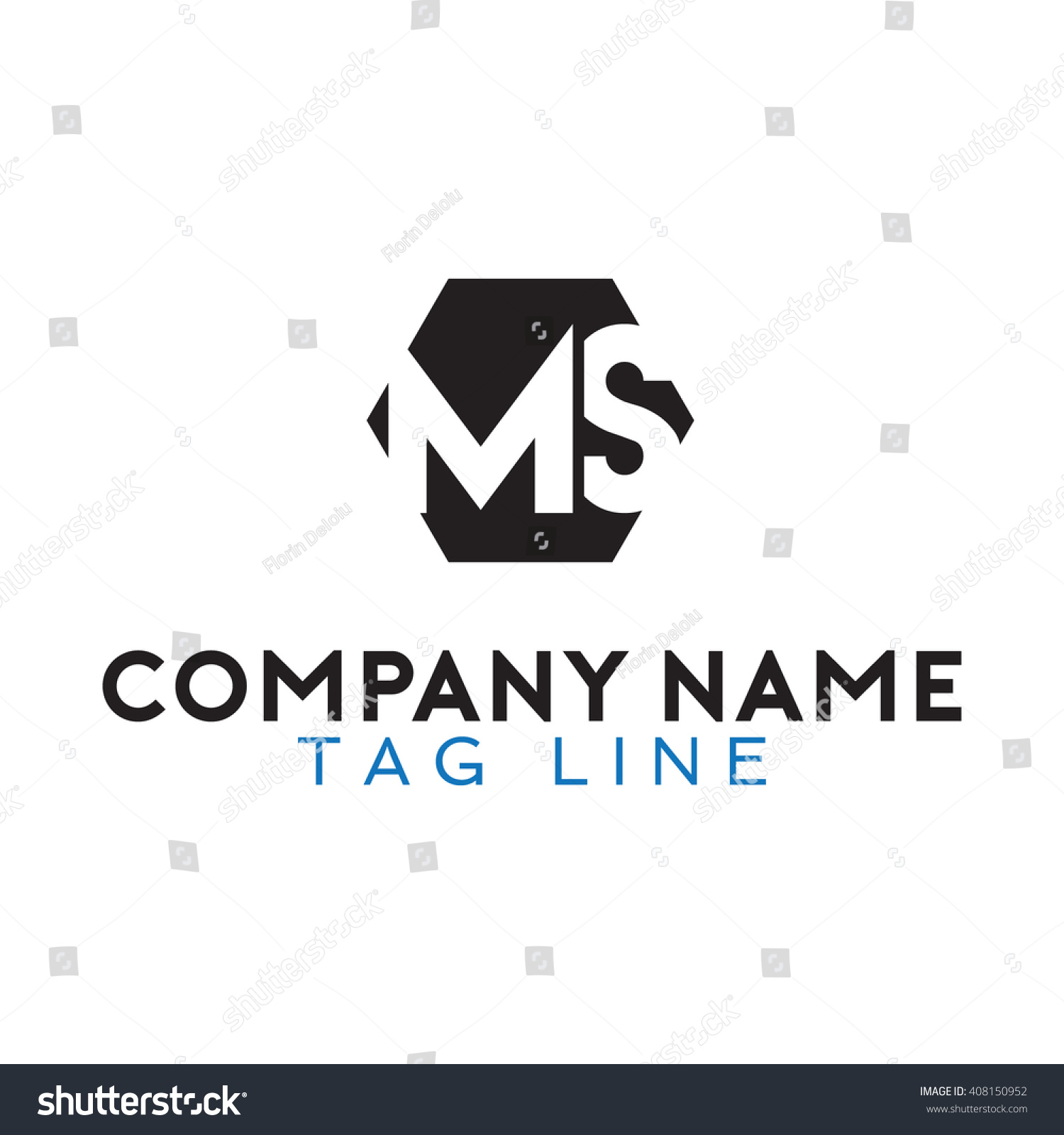 Ms Logo Stock Vector 408150952 - Shutterstock
