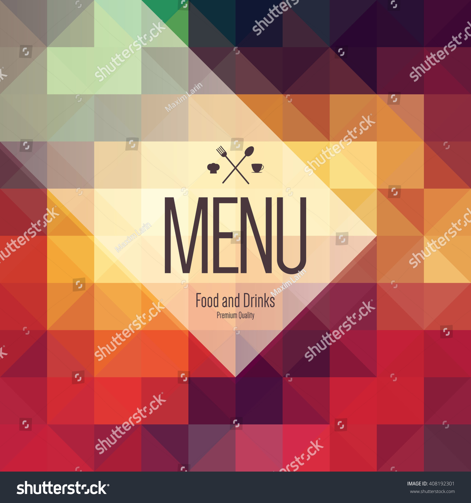 restaurant menu design vector menu brochure template for cafe save to a lightbox