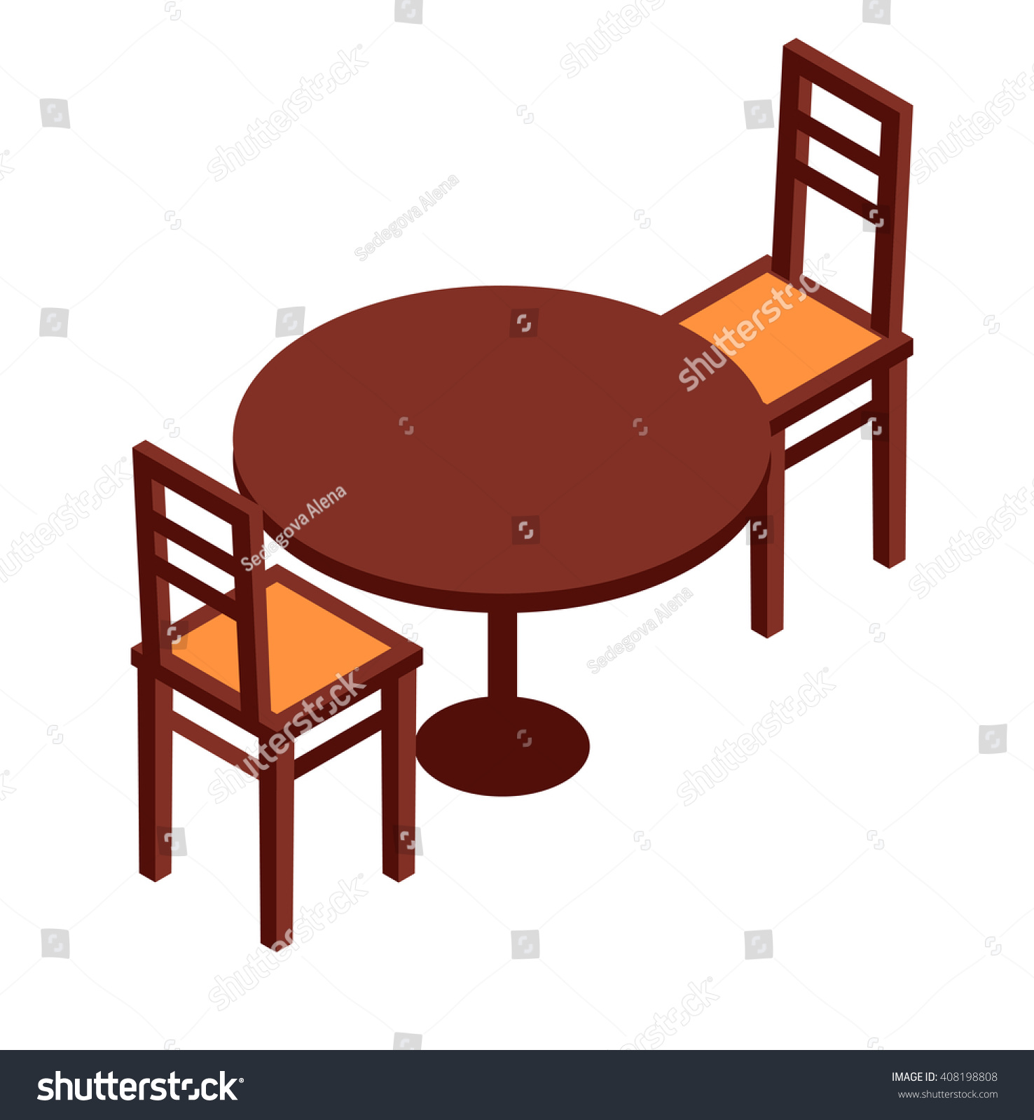 Indoor cafe tables and chairs - Cafe Table Chairs Isometric Table And Chairs Isometric Furniture Isometric Cafe Elements Isometric Table And