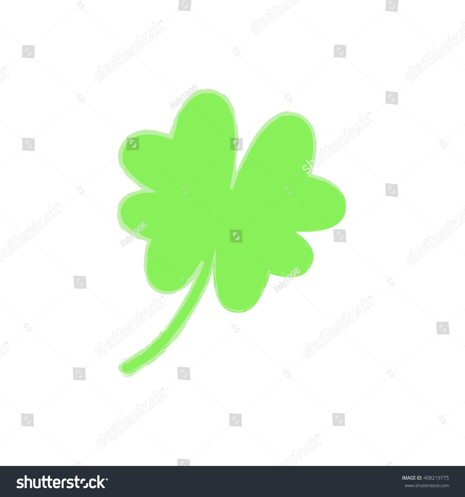 Leaf clover icon saint patrick symbol stock vector 408219775 saint patrick symbol ecology concept biocorpaavc