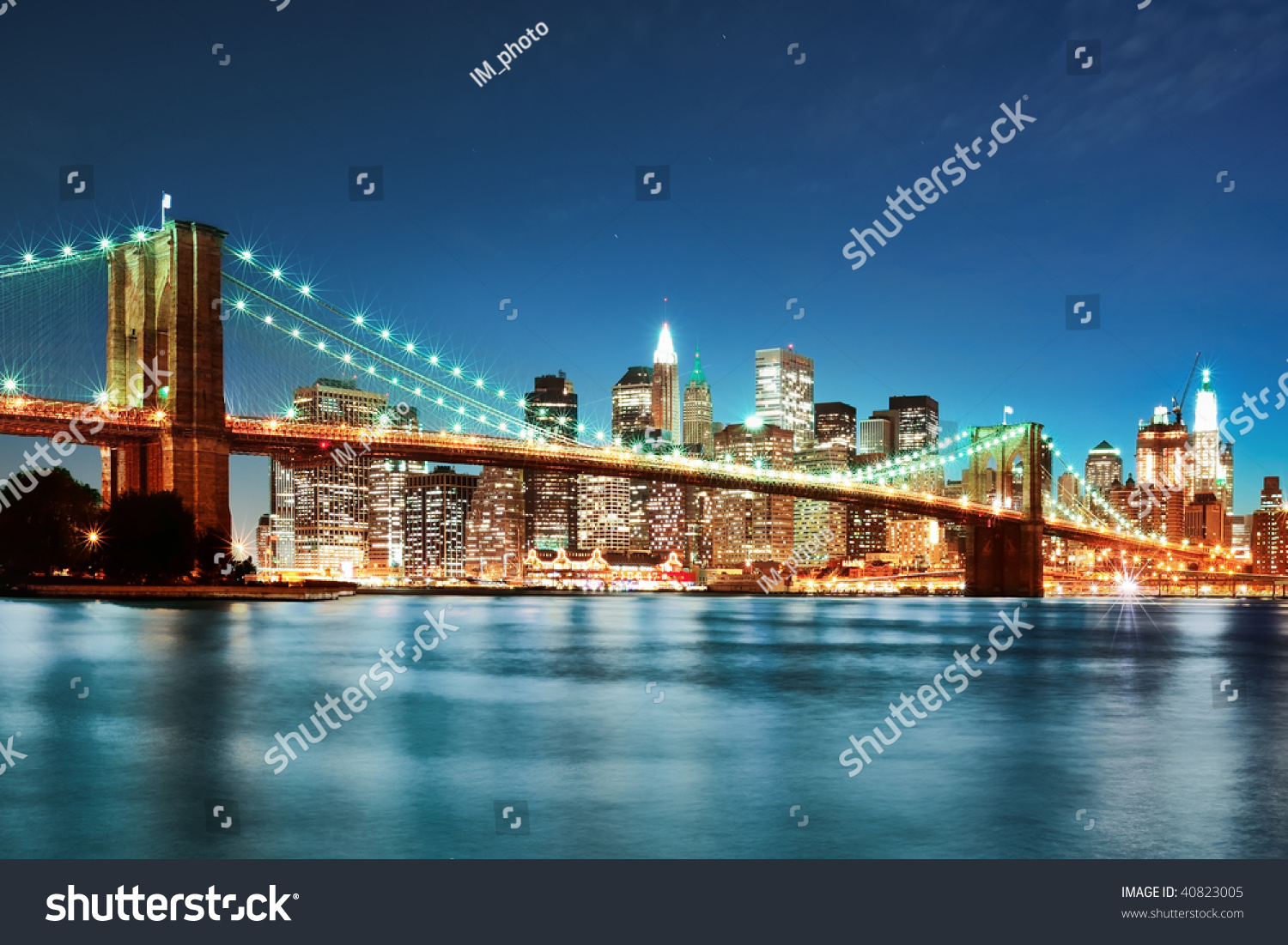 new york city skyline stock photo 40823005 shutterstock. Black Bedroom Furniture Sets. Home Design Ideas
