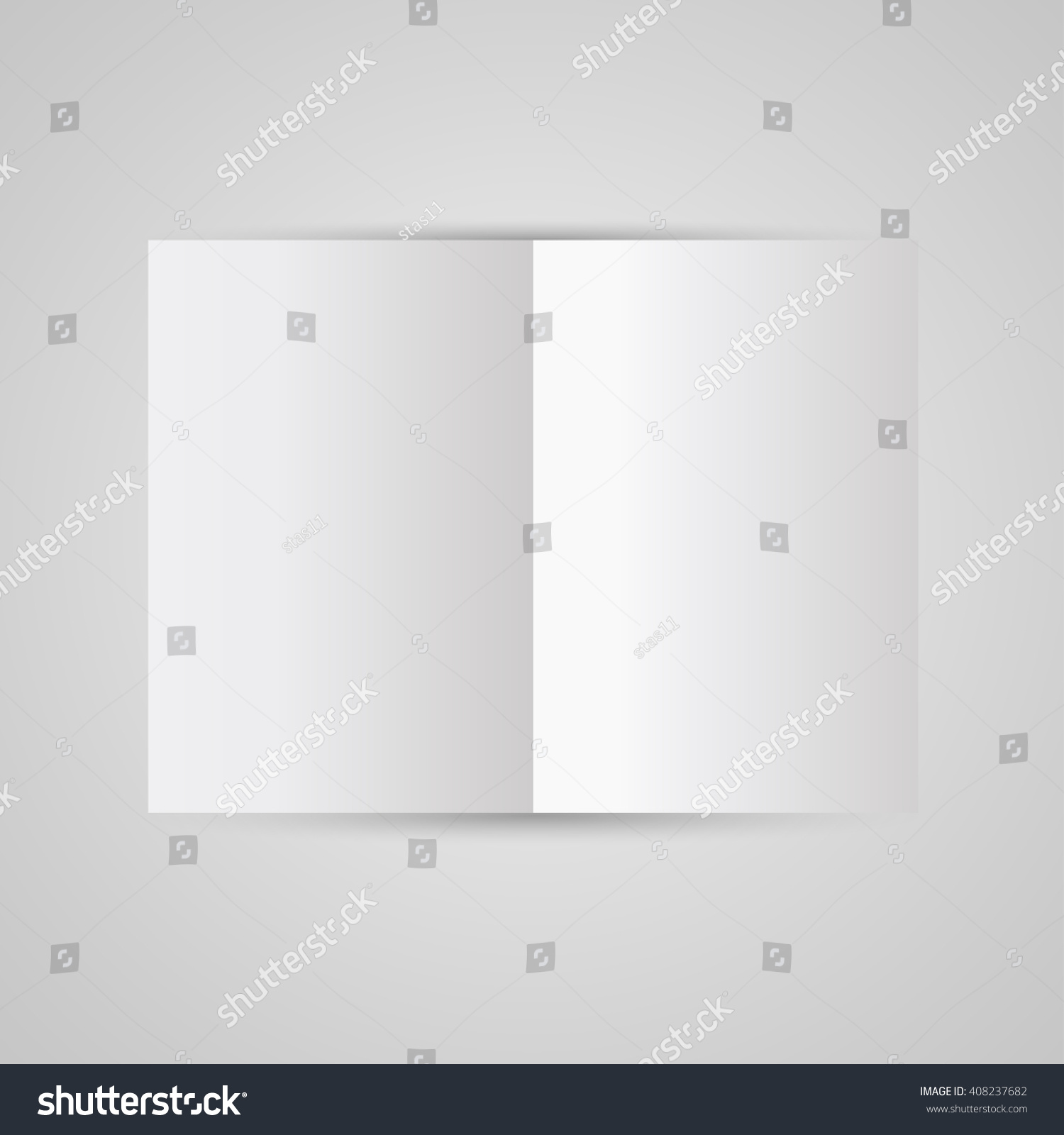 Magazine Blank Page Template Design Layout Stock Vector Royalty
