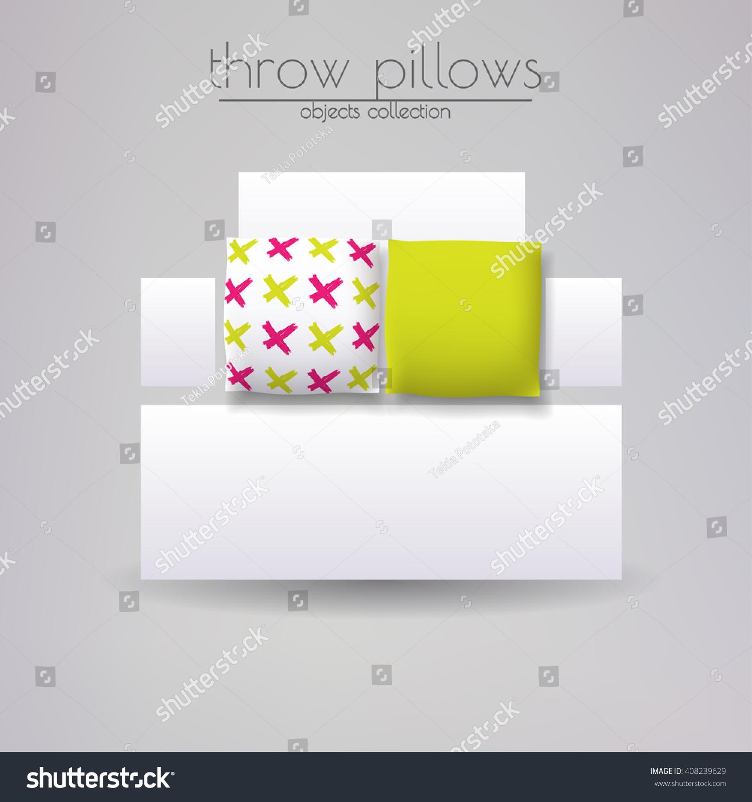 Cushions Cover Design Set Throw Pillows Stock Vector