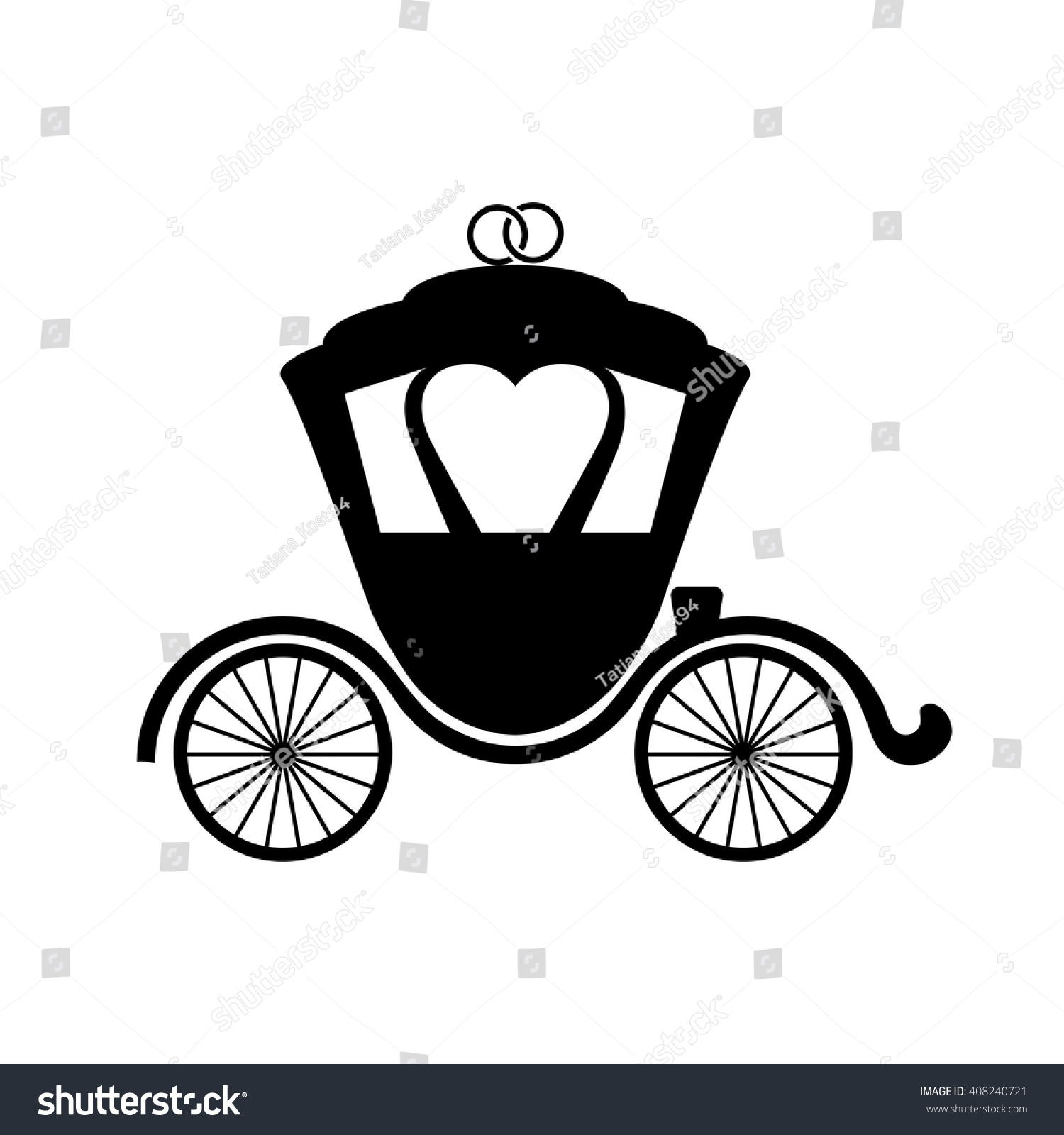 Carriage Flat Icon Vector Iconlogoisolated Modern Flat Style Simple
