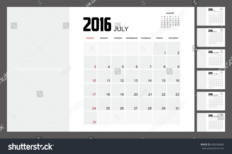 Calendar Planner Design : Calendar planner design stock vector