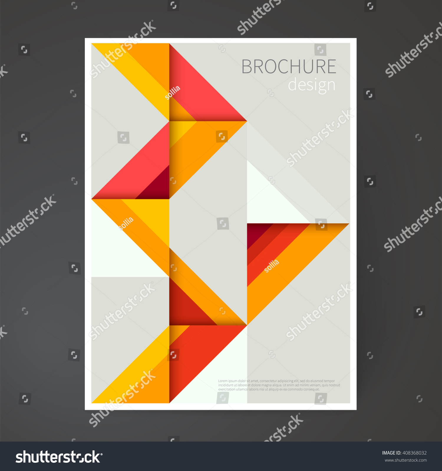 royalty cover design template brochure 408368032 stock cover design template brochure leaflet flyer catalog page poster design origami abstract geometric background mini stic design creative concept