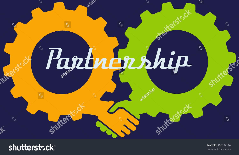 Partnership Concept Handshake Abstract Sign Vector Stock Vector