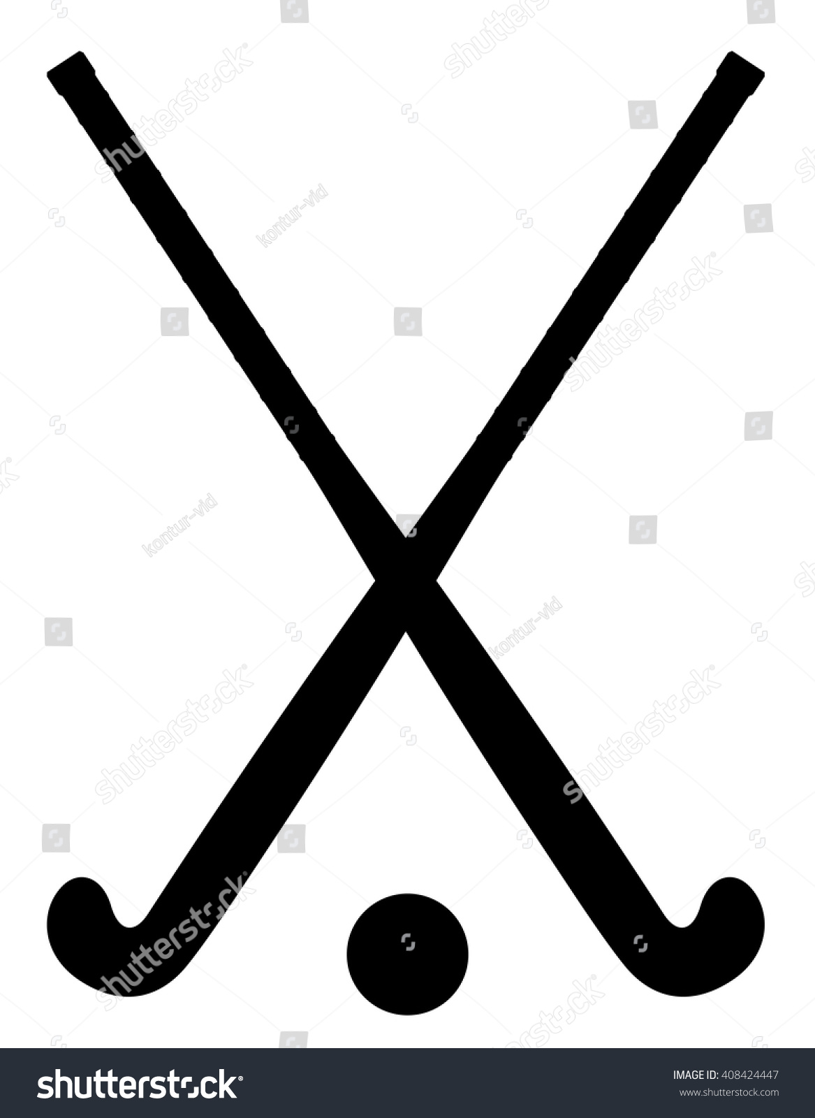 Field hockey equipment black outline silhouette stock vector field hockey equipment black outline silhouette vector illustration isolated on white background biocorpaavc Image collections