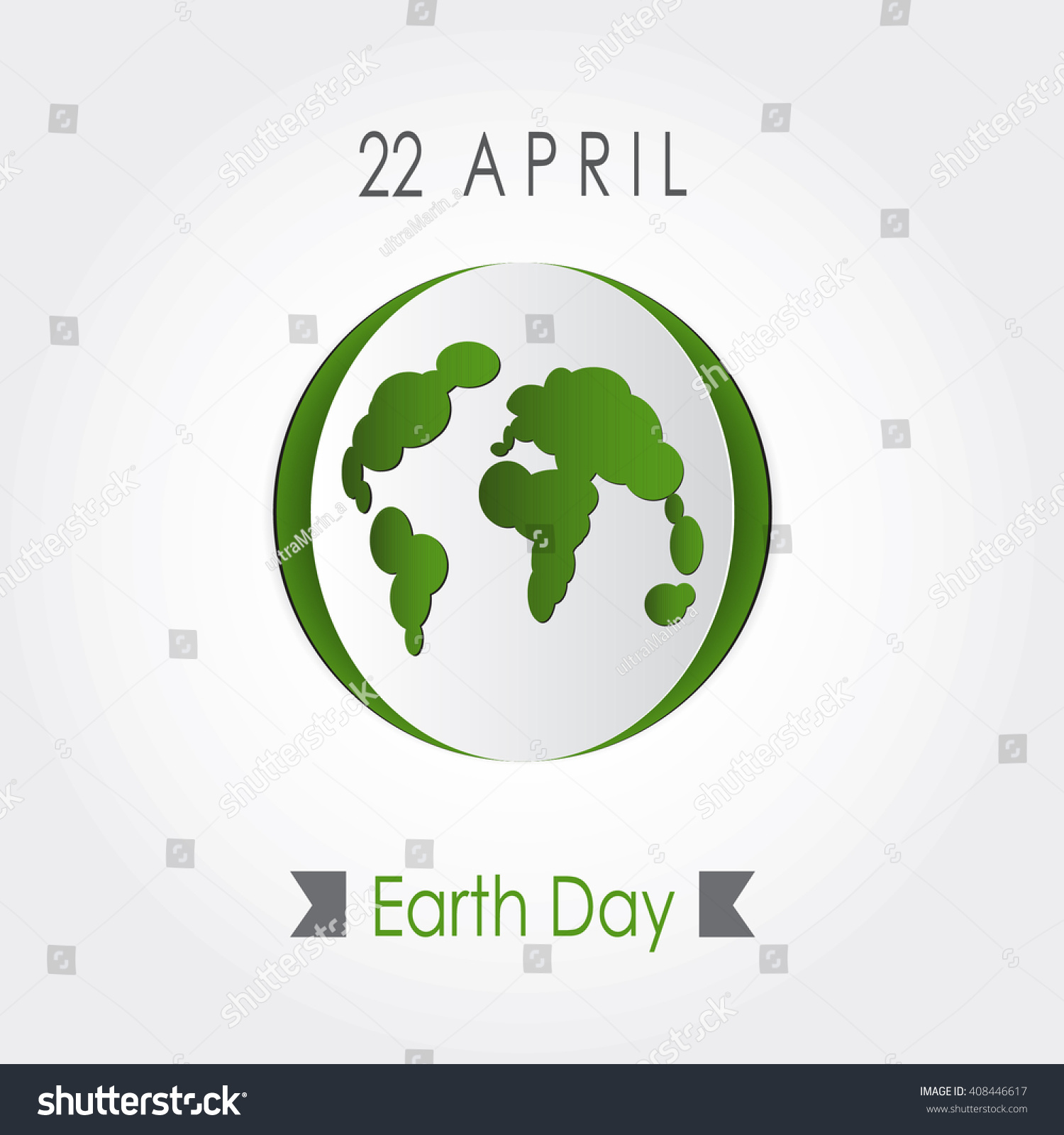 Poster design on save earth - Vector Earth Day Poster Design Save Earth Concept Map Illustration Protect World Idea
