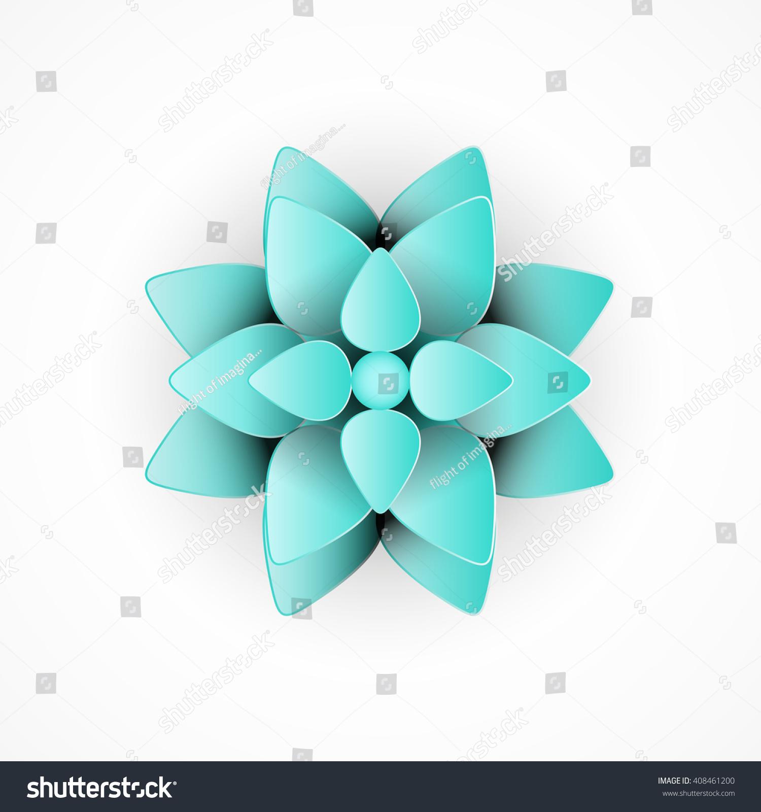 Lotus Flower Illustration Stock Vector Royalty Free 408461200