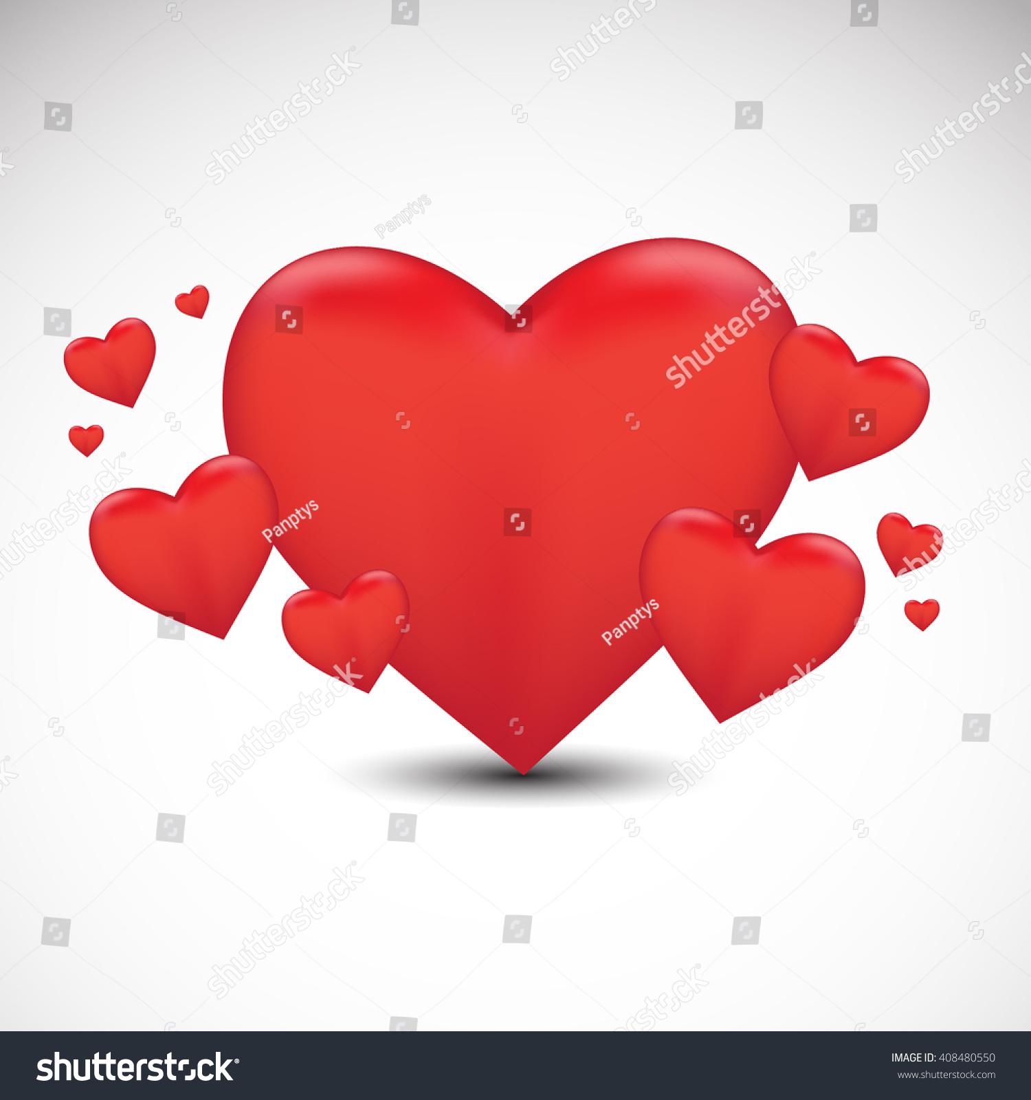 Love Feeling Emotion Illustration Valentines Day Stock Vector