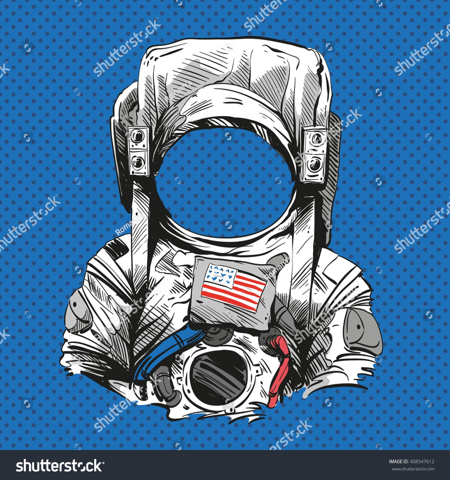 Astronaut Suit Hand Dr...