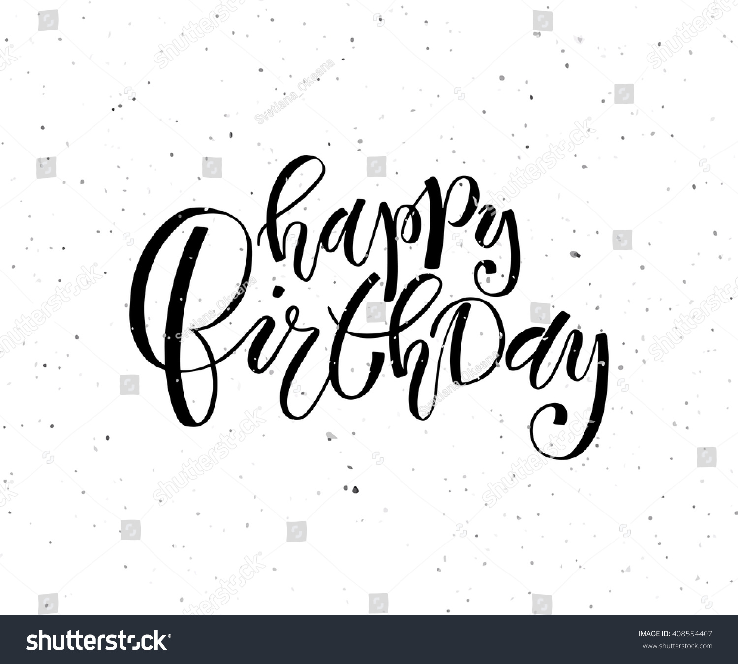 Hand Sketched Happy Birthday Text Birthday Stock Vector