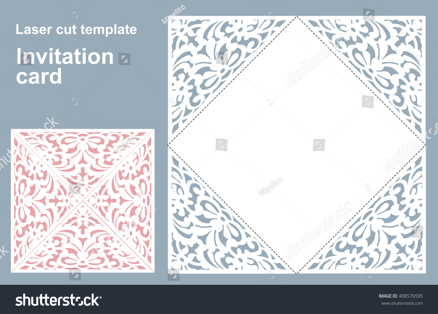 Laser cut wedding invitations template free vector designs - oukas.info