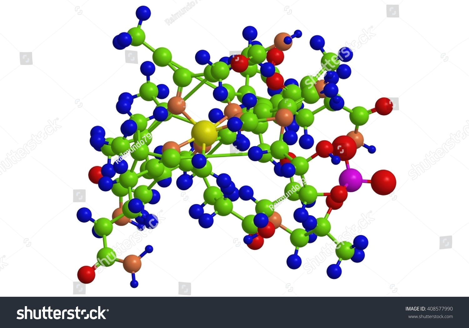 3d Molecular Structure Methylcobalamin Form Vitamin Stock ...