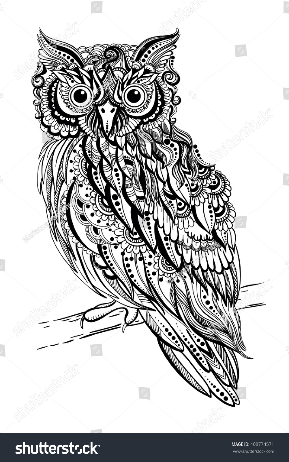 tattoo owl coloring pages - photo#21