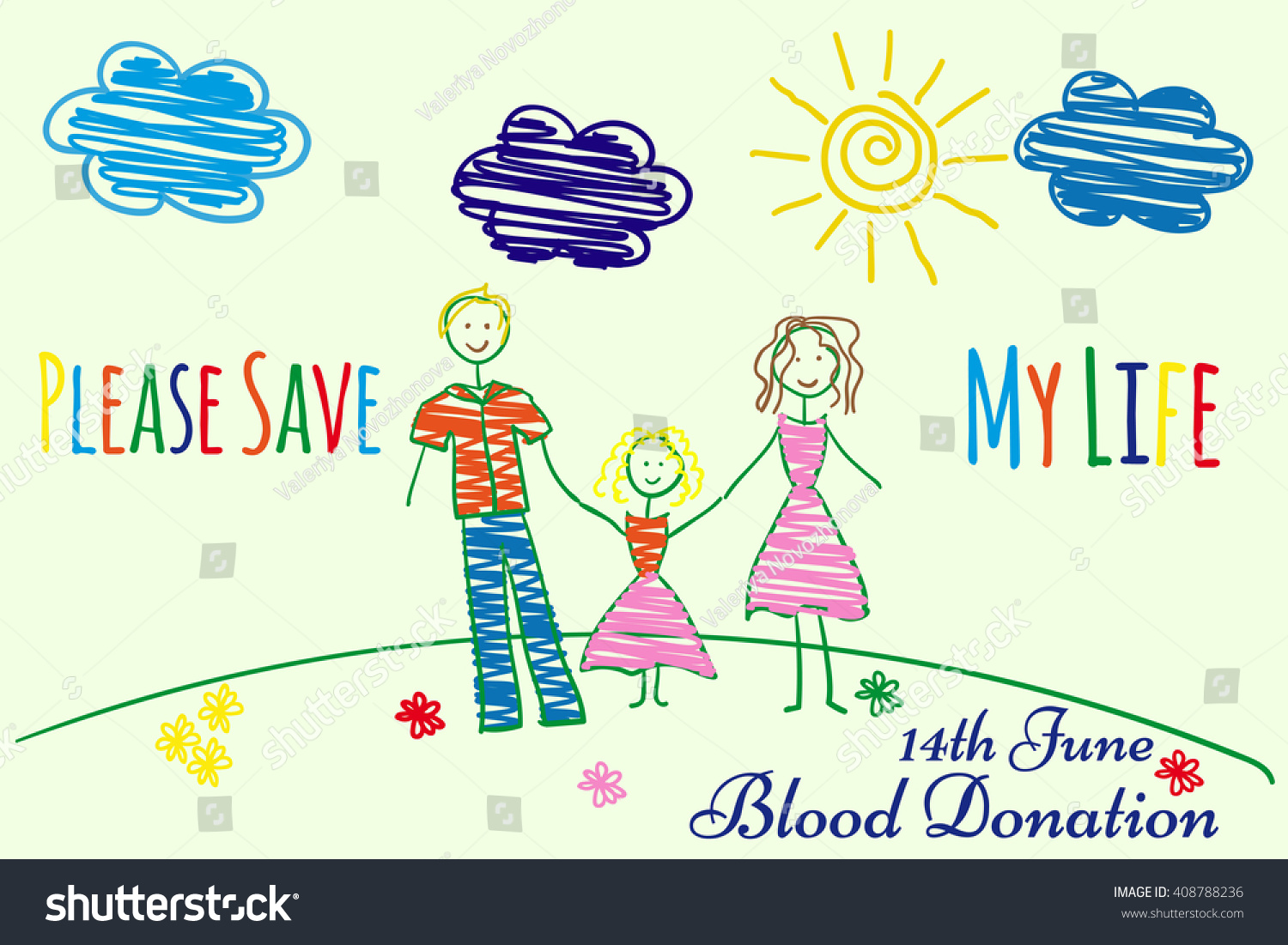 Blood donation cartoon posters