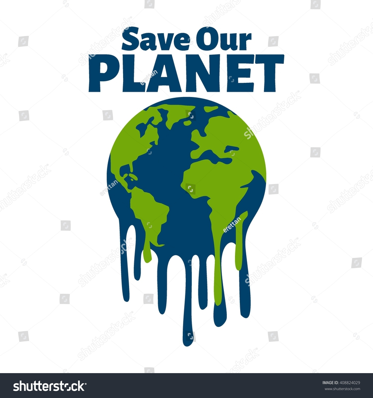 Poster design on save earth - Earth Day Poster Template