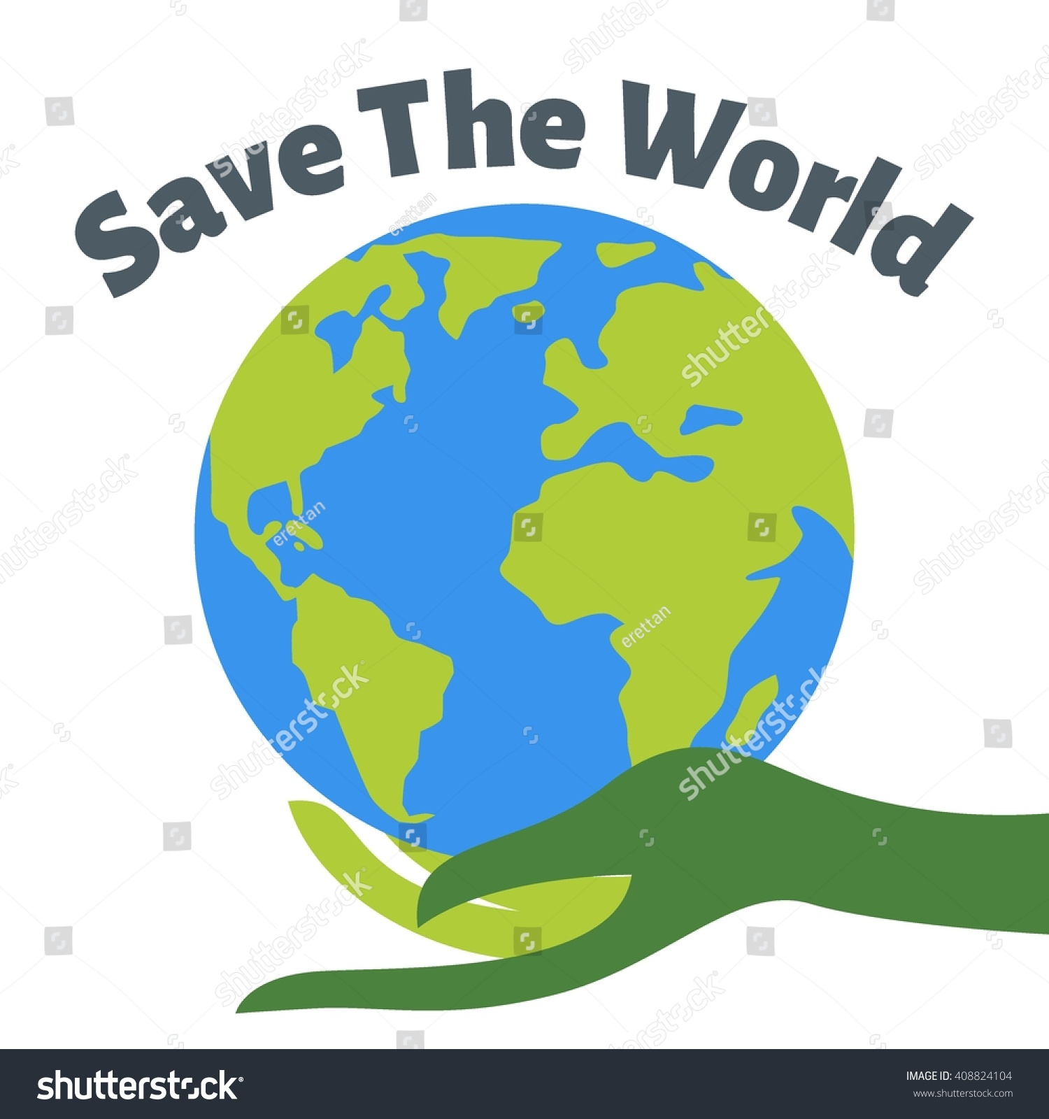 Earth Day Poster Template Stock Vector 408824104 - Shutterstock