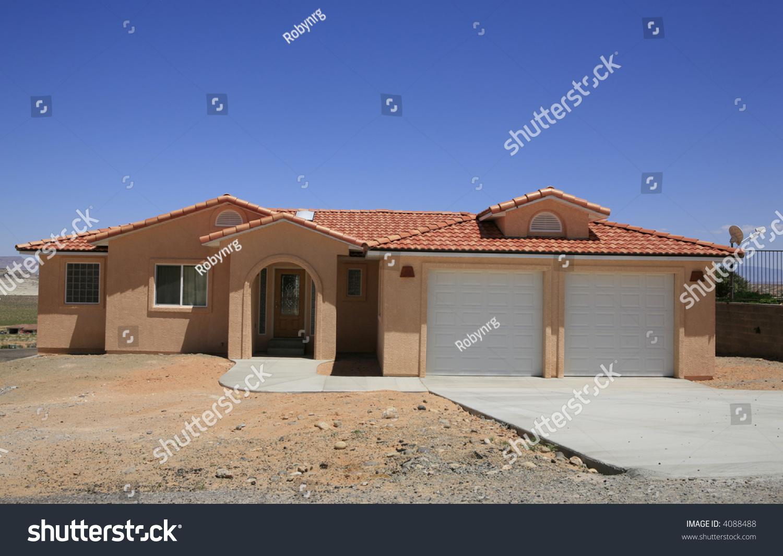 Stucco southwestern style house stock photo 4088488 for Southwestern style homes
