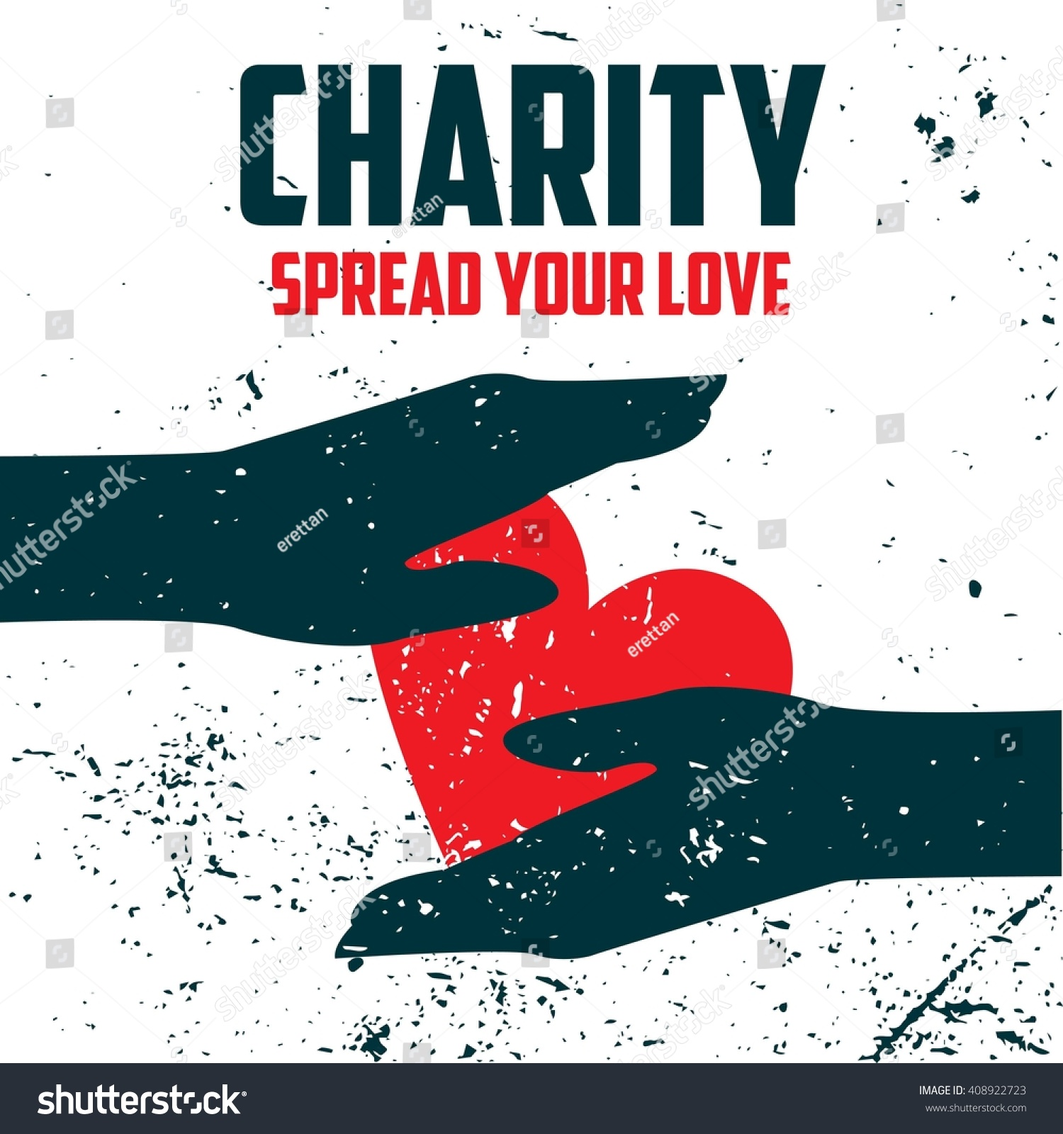 Donation Giving Poster Template Stock Vector Royalty Free