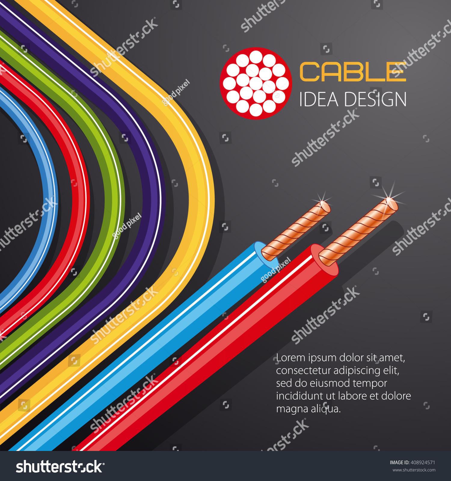 Cable Wire Vector Design Stock Photo (Photo, Vector, Illustration ...