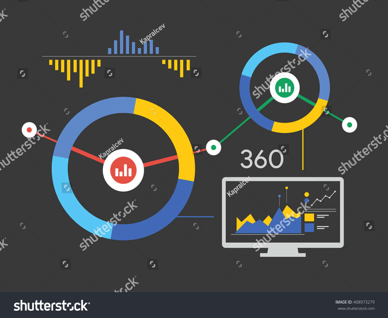 Data Analysis Analytics 360 Stock Vector (Royalty Free
