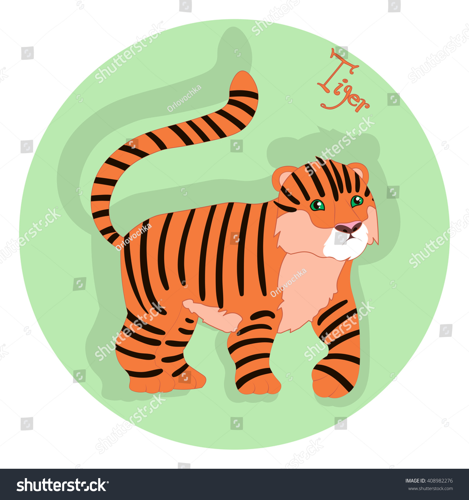 Tiger Chinese Happy New Year Vector Stock Vector Royalty Free