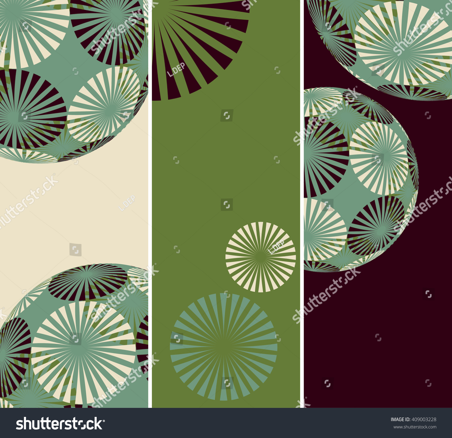 Set 3 Bookmark Backgrounds Flower Balls Stock Photo (Photo, Vector ...