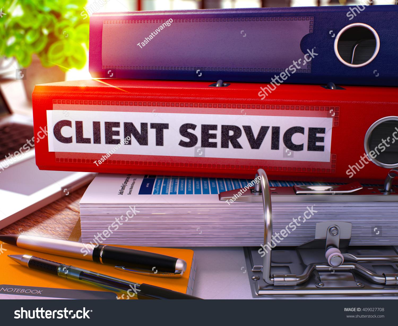 red office folder inscription client service stock illustration 409027708 shutterstock. Black Bedroom Furniture Sets. Home Design Ideas