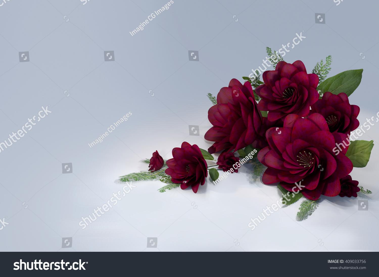 Bouquet flowers bouquet deep pink flowers stock illustration bouquet of flowers a bouquet of deep pink flowers with fern like foliage 3d mightylinksfo