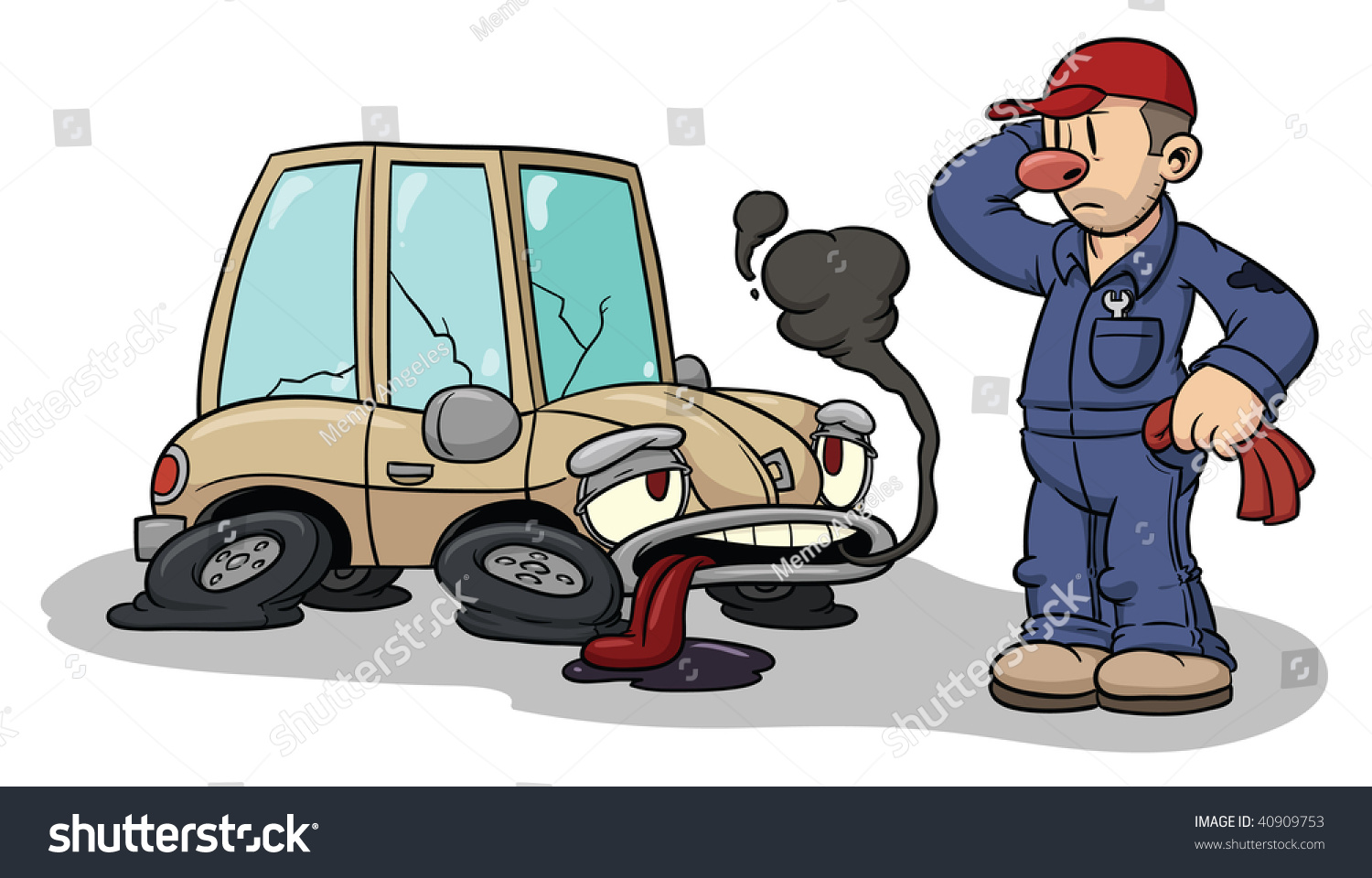 Showing post & media for Mechanic under car hood cartoons | www ...