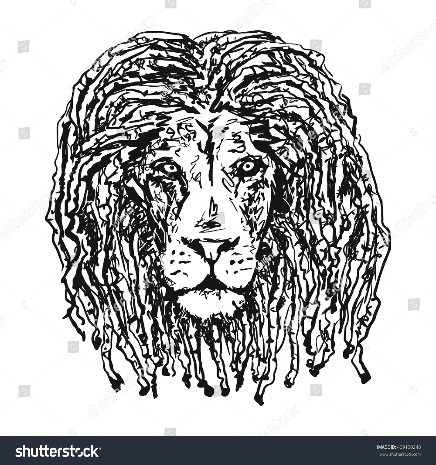 Isolated vectorhead lion dreadlocks symbol rastafarian stock isolated vectorhead lion with dreadlocks as a symbol of the rastafarian subculture and the image of biocorpaavc Image collections