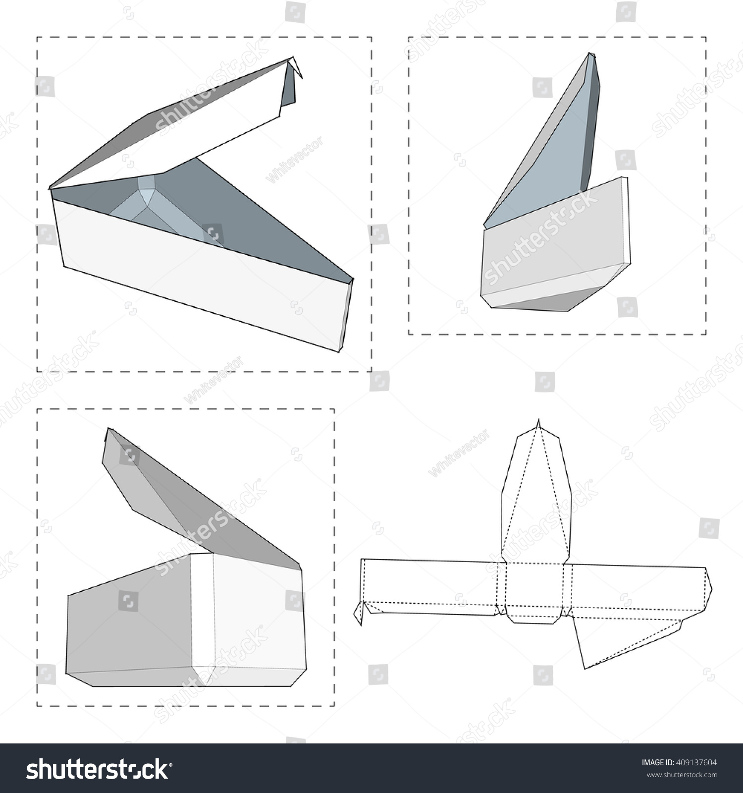 box die cut template packing box stock vector shutterstock box die cut template packing box for food gift or other products