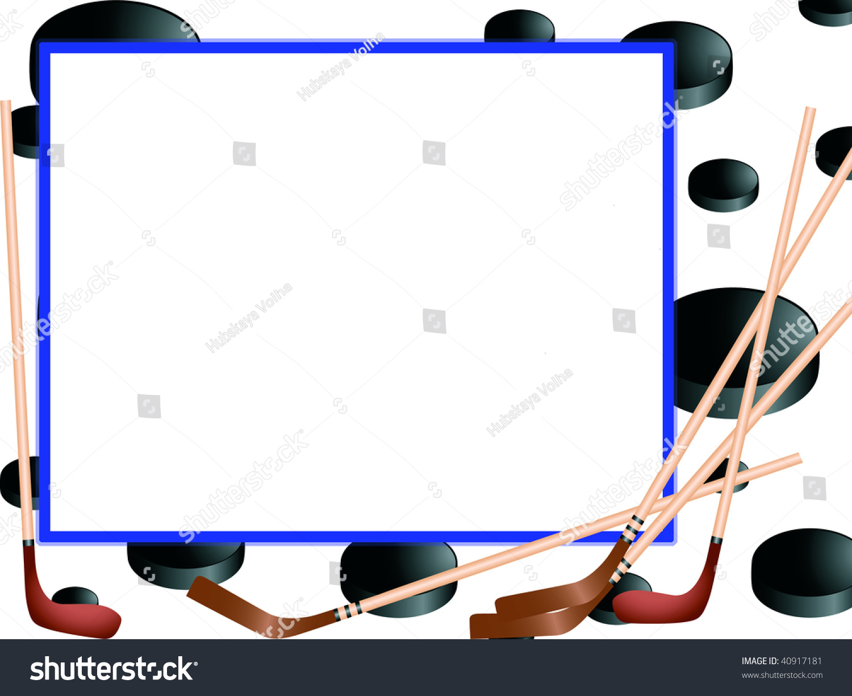 Photo Frame Hockey Stock Illustration 40917181 - Shutterstock