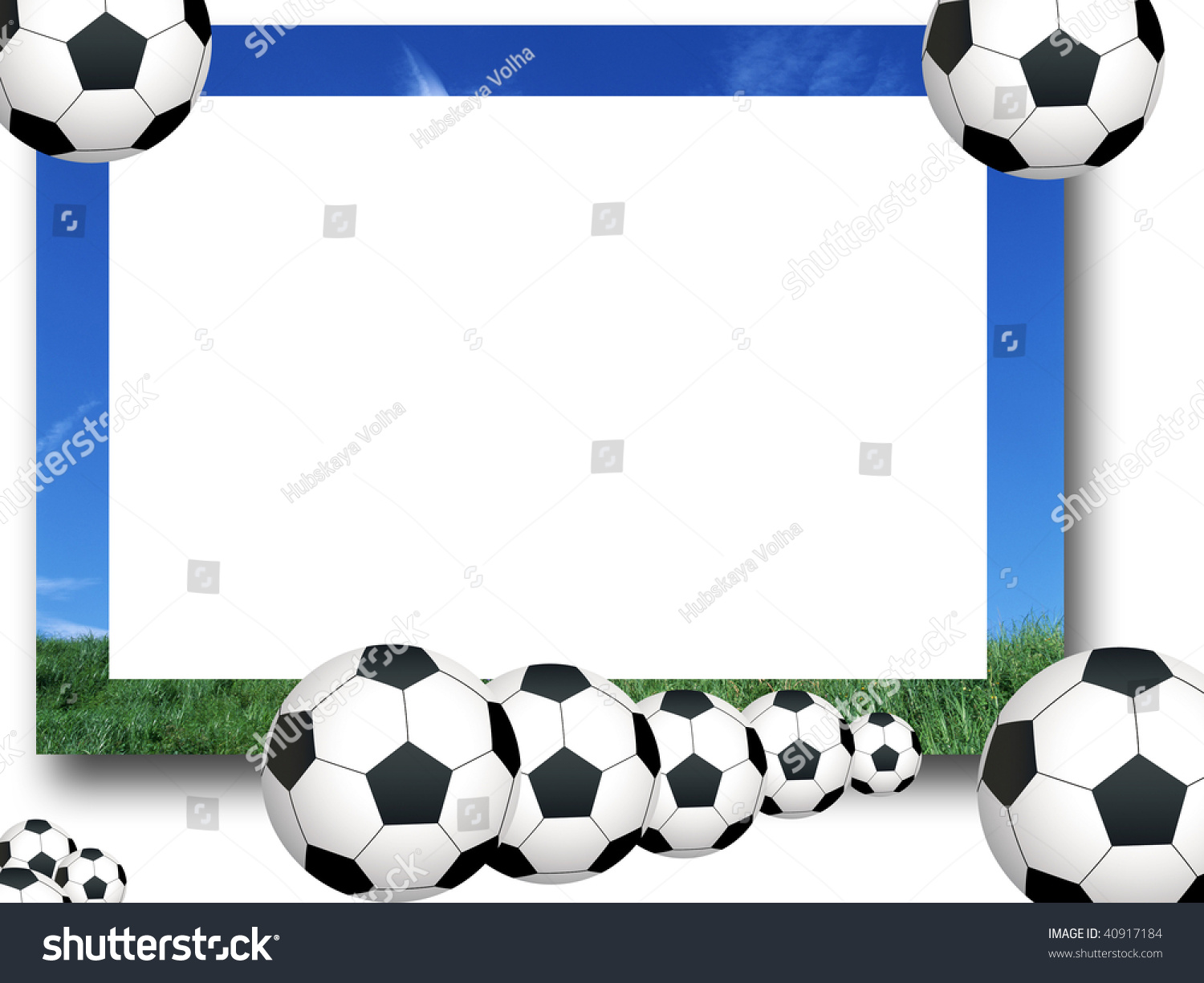 photo frame soccer stock illustration 40917184