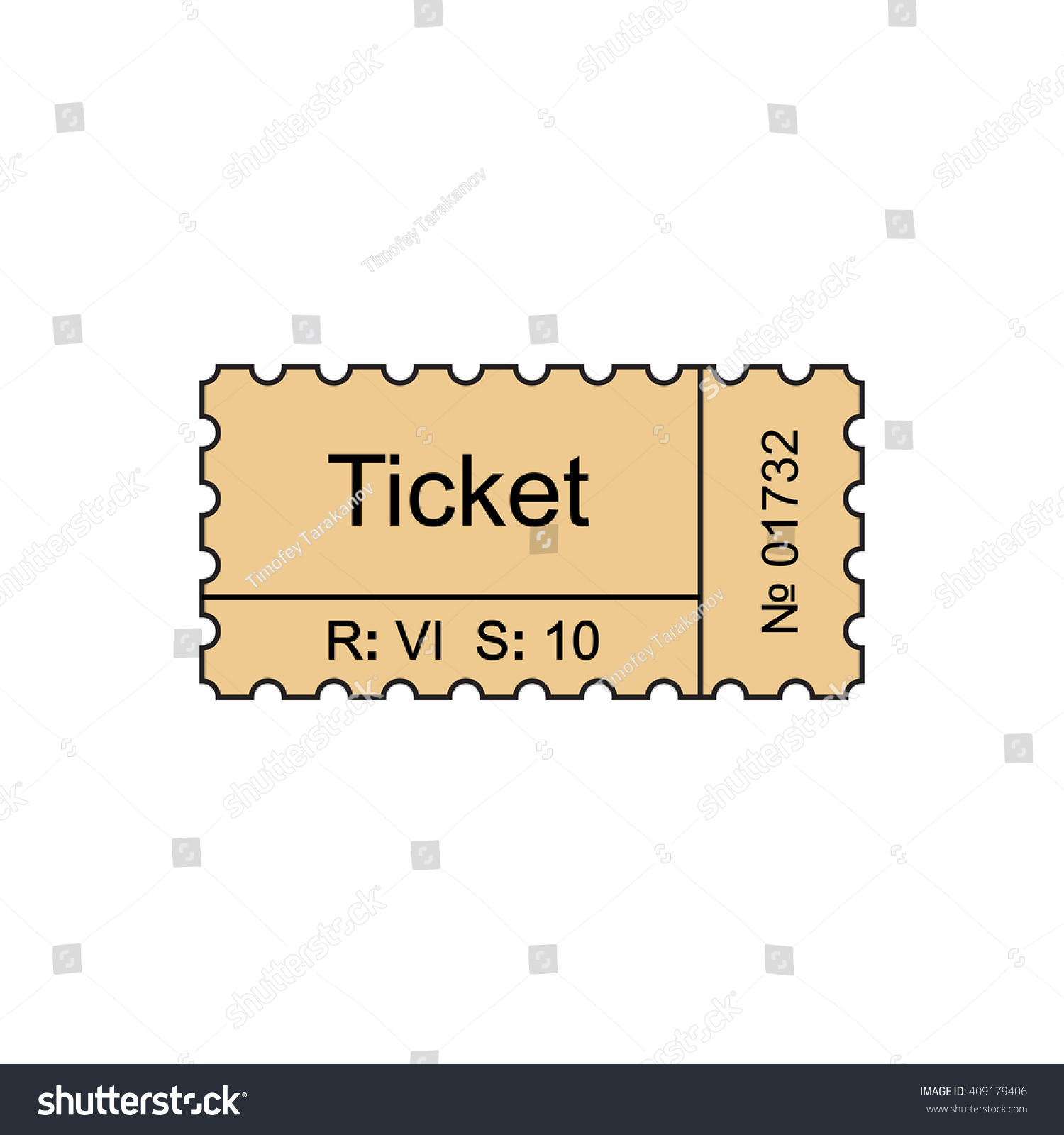 ticket outline icon stock vector shutterstock ticket outline icon