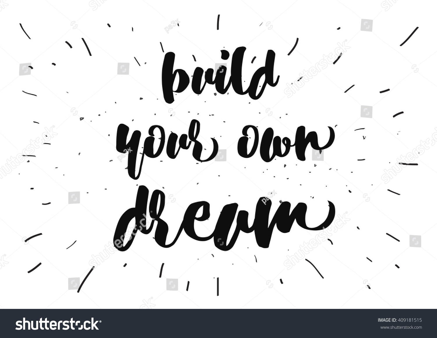 Build Your Own Dream Inspirational Inscription Greeting Card With