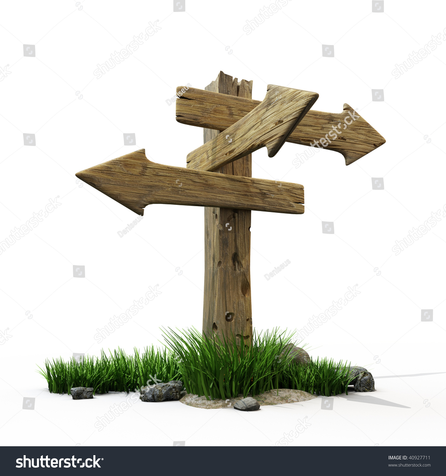 old wooden road sign stock illustration 40927711