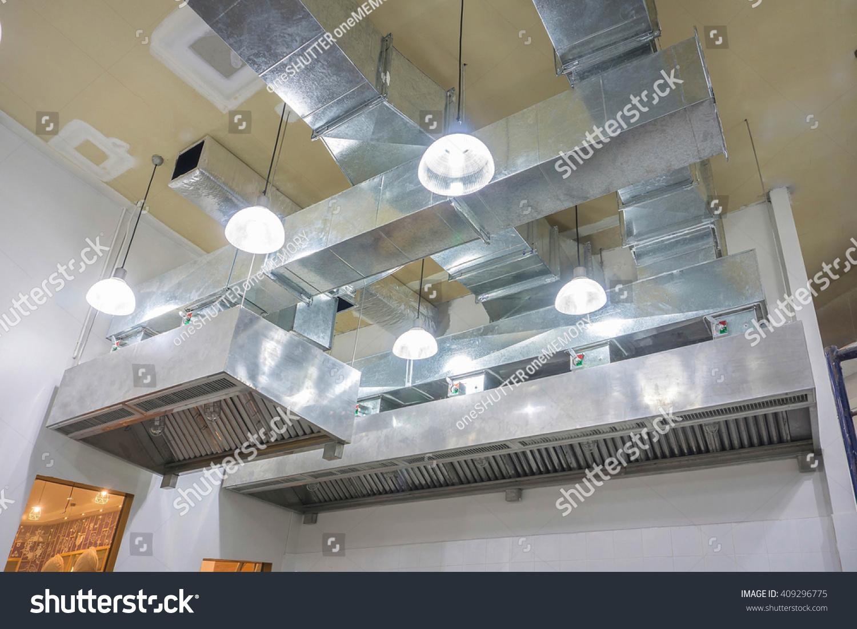 Restaurant ventilation system airflow fan ventilate stock