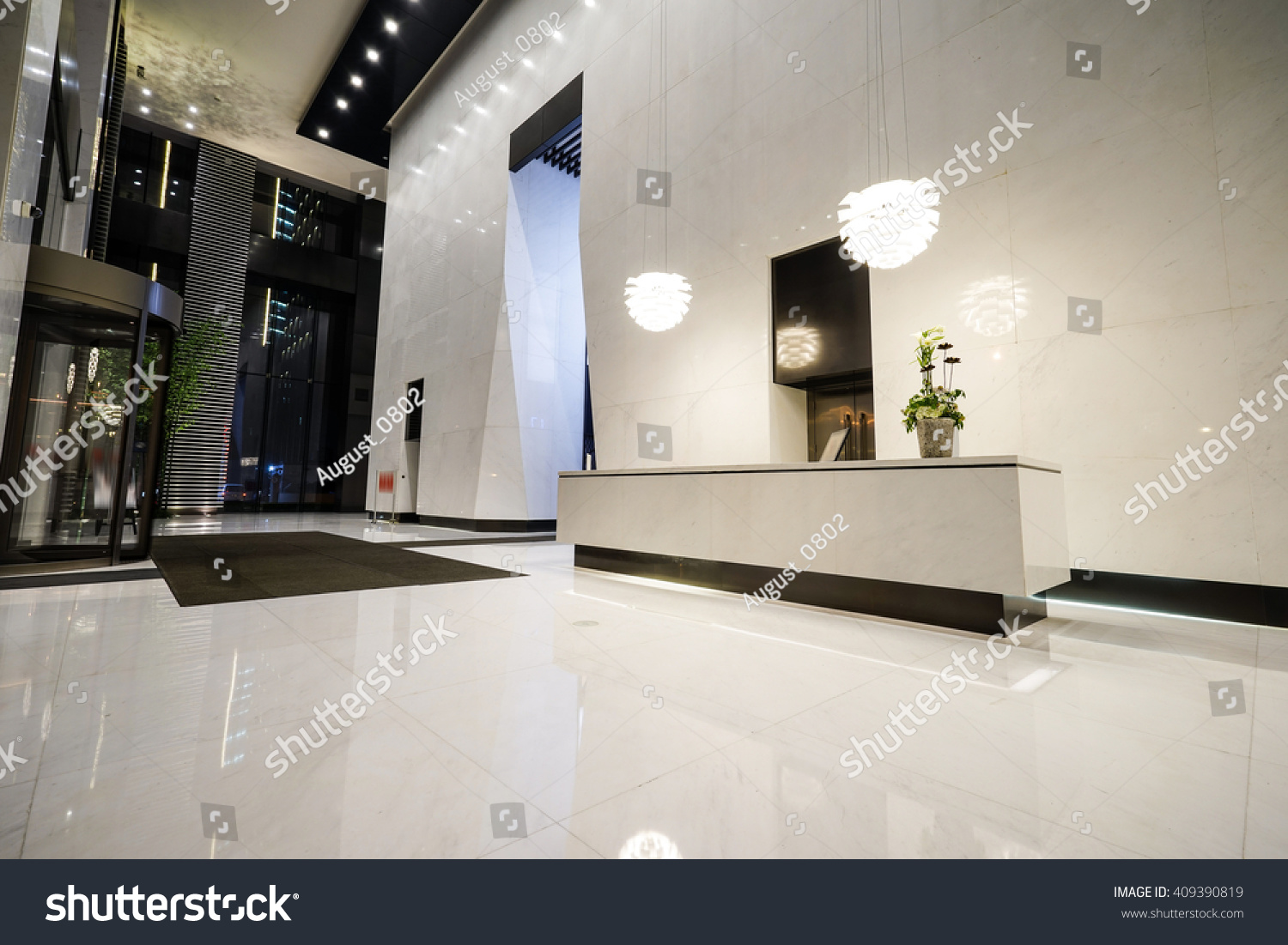Interior Modern Office Lobby Stock Photo 409390819 Shutterstock