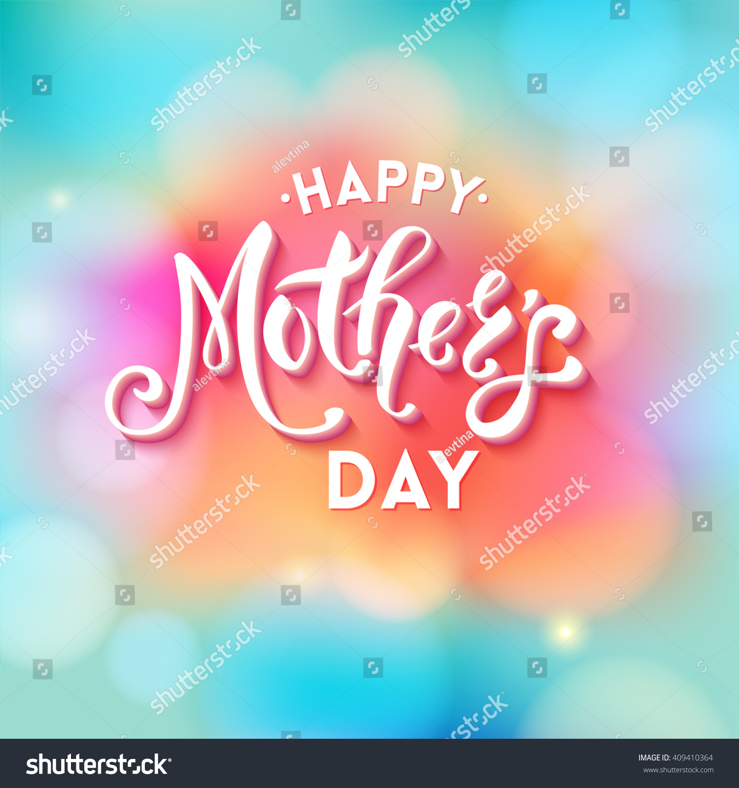 Happy mothers day text greeting card stock vector 409410364 happy mothers day text greeting card template in square with obscured pink blue and green kristyandbryce Choice Image