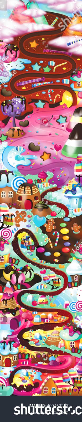 Candyland Map on