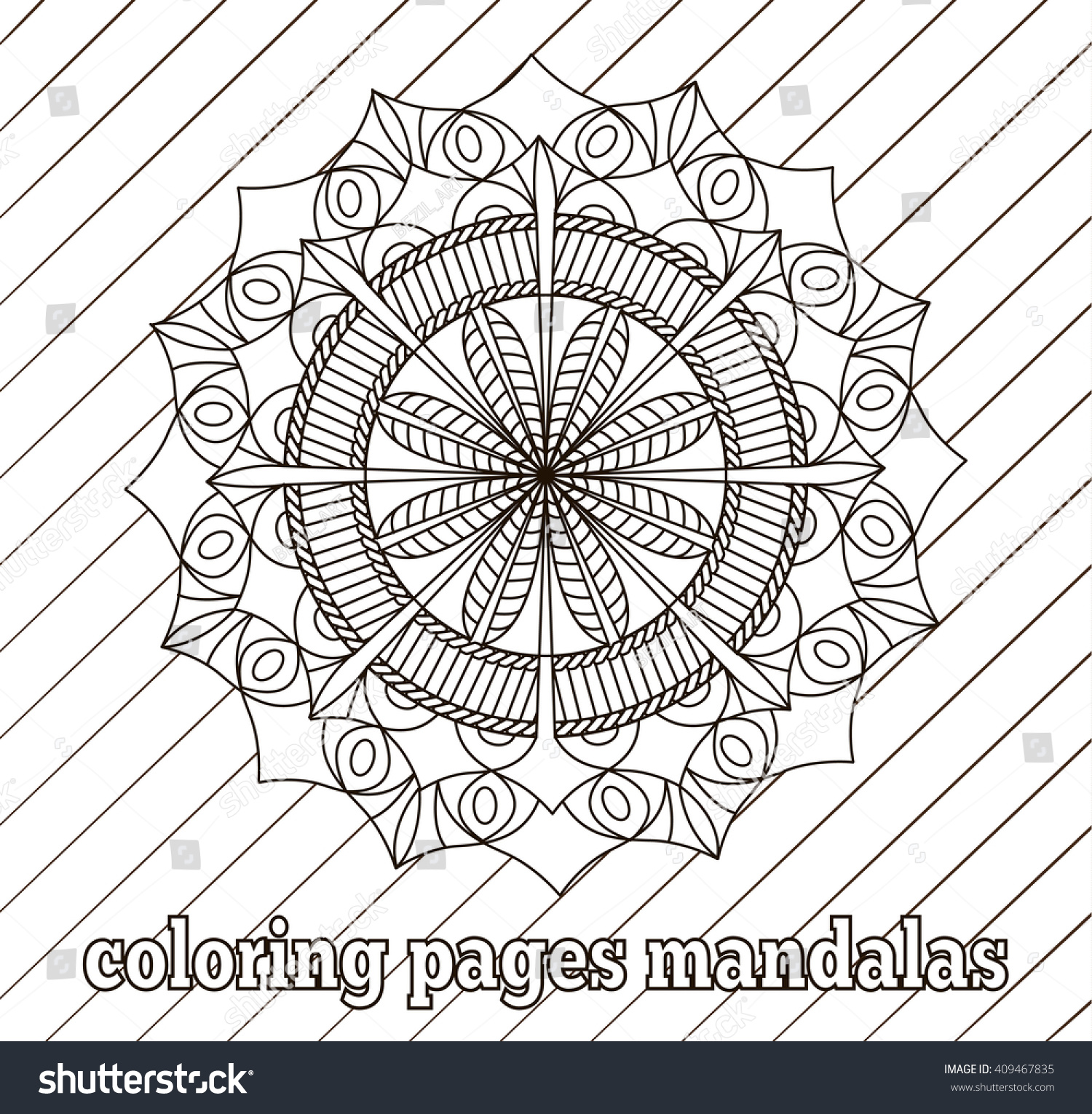 coloring pages adults older children templates stock vector