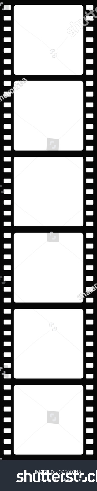 printable film strip template - black white film strip six sections stock vector 409500349
