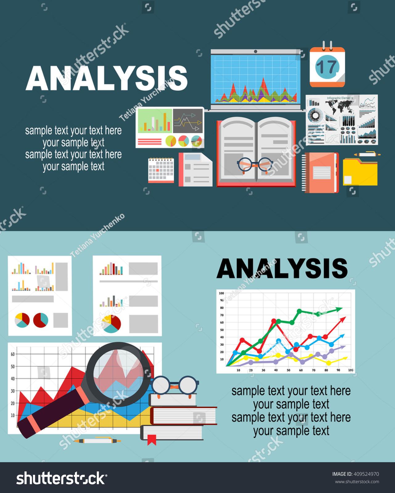 Flat Design Illustration Concepts Business Analysis Stock Vector 409524970 Shutterstock