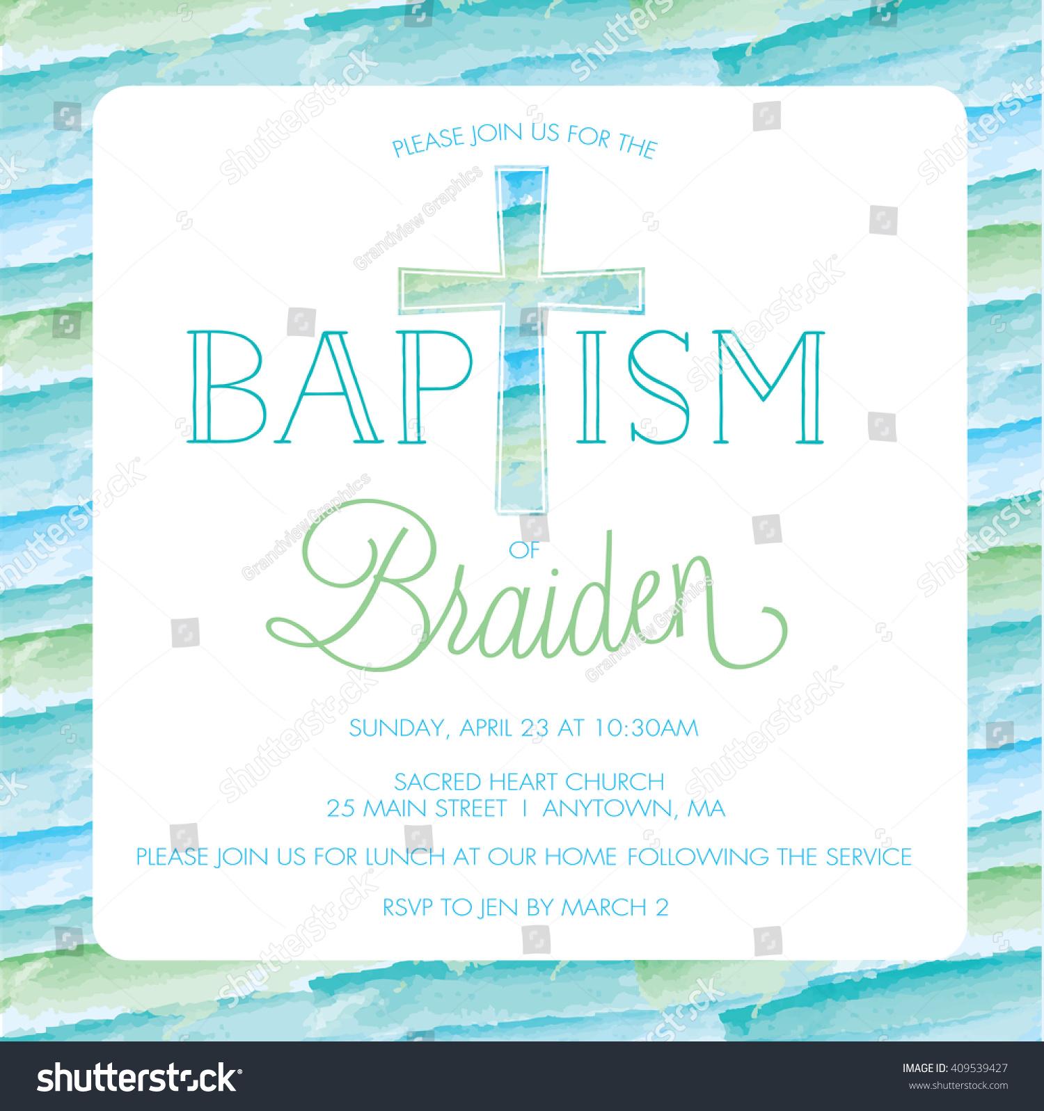 baptism christening invitation card invite template のベクター画像