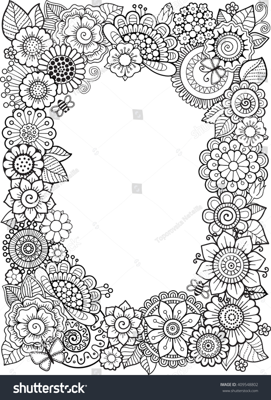 Coloring Book Antistress Adults Isolated Vector Stock Vector