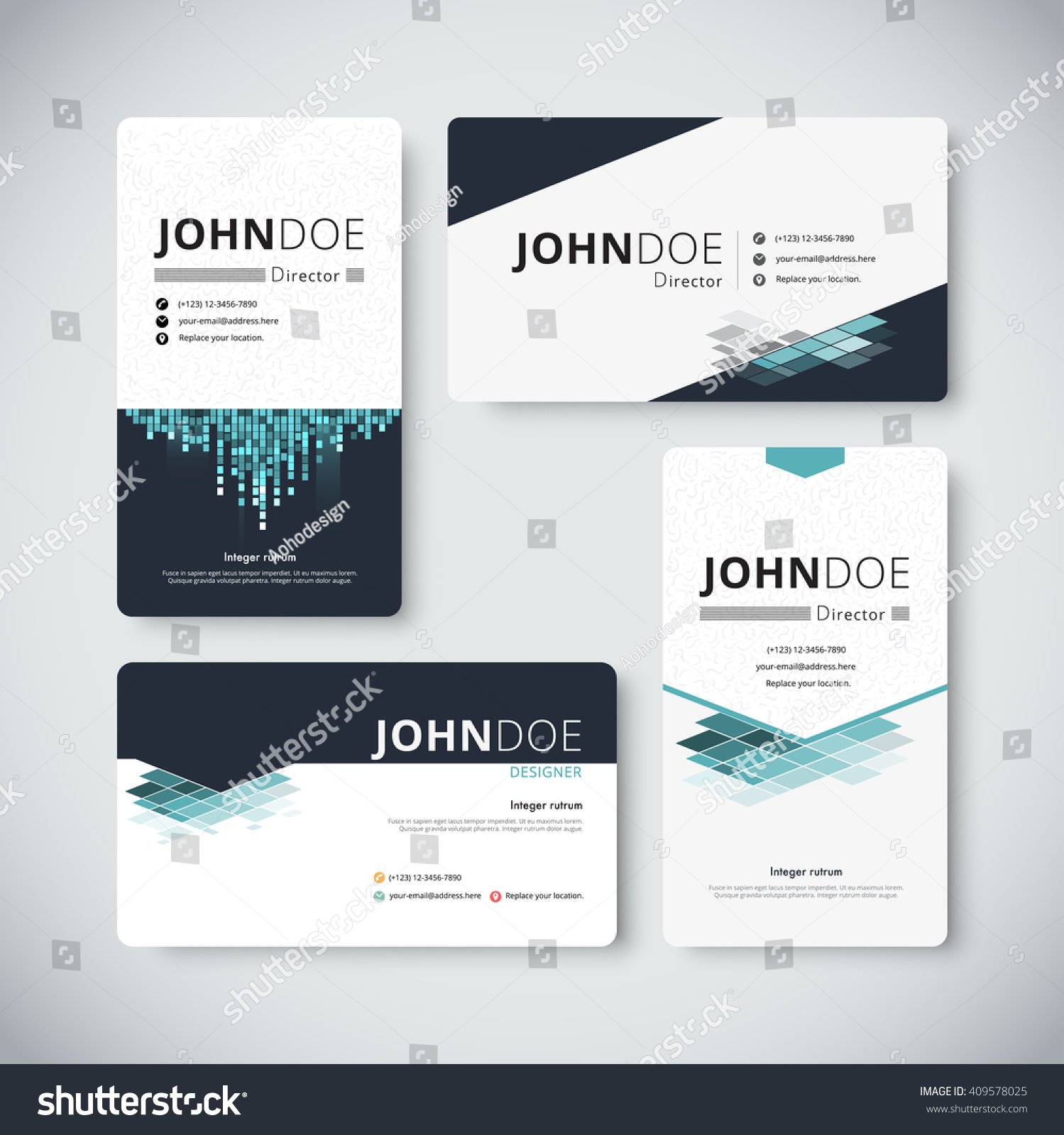 Corporate Business Card Template Business Card Stock Vector ...